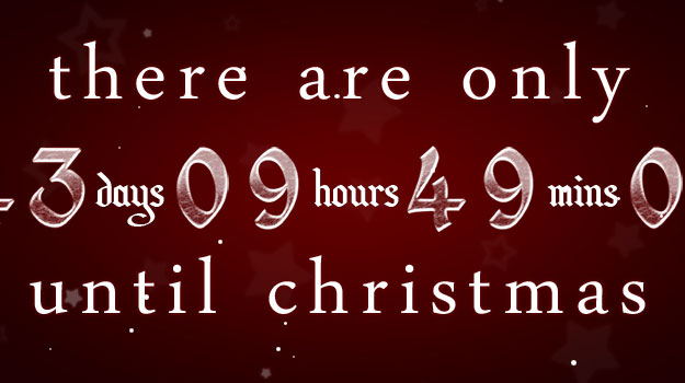 to use these christmas countdown timers 1 christmas countdown 2009 625x350