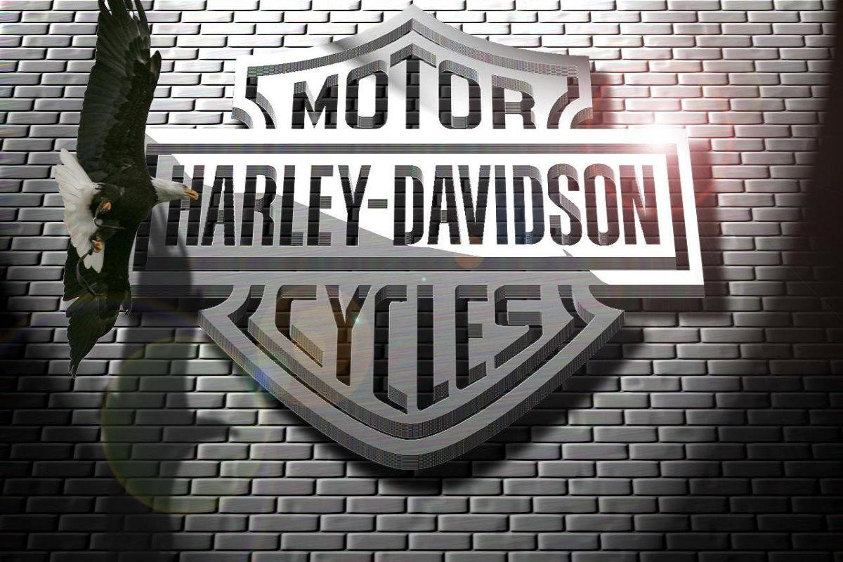 Harley Davidson Logo Aguila 3d Ladrillo Wallpaper 1200x800