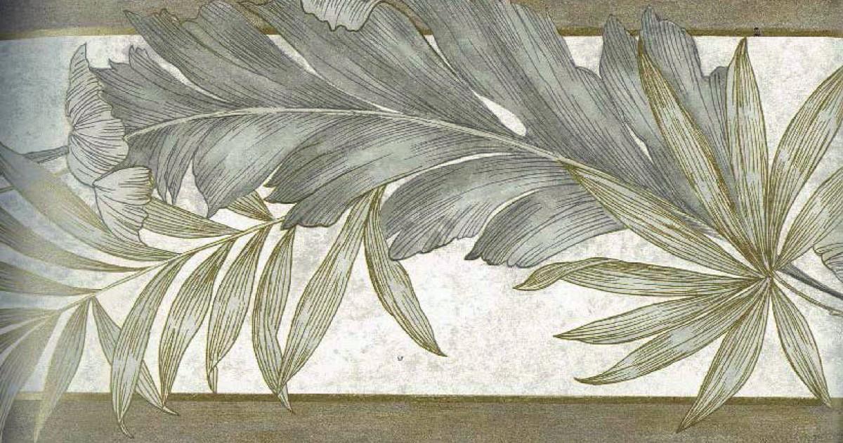 Green Background Green leaves Wallpaper Border 1200x630