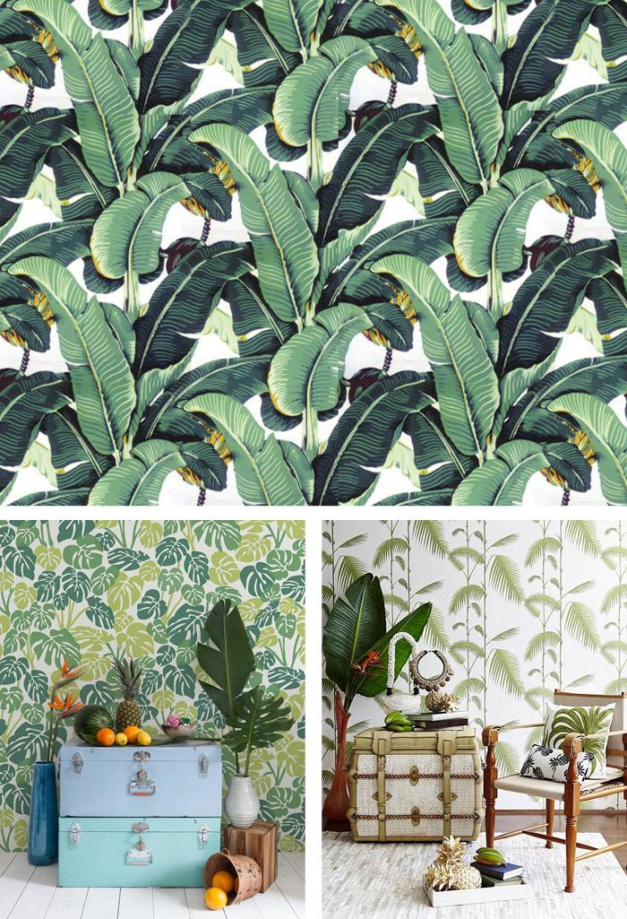 Banana Leaf Wall Paper Home Decor 700x1025