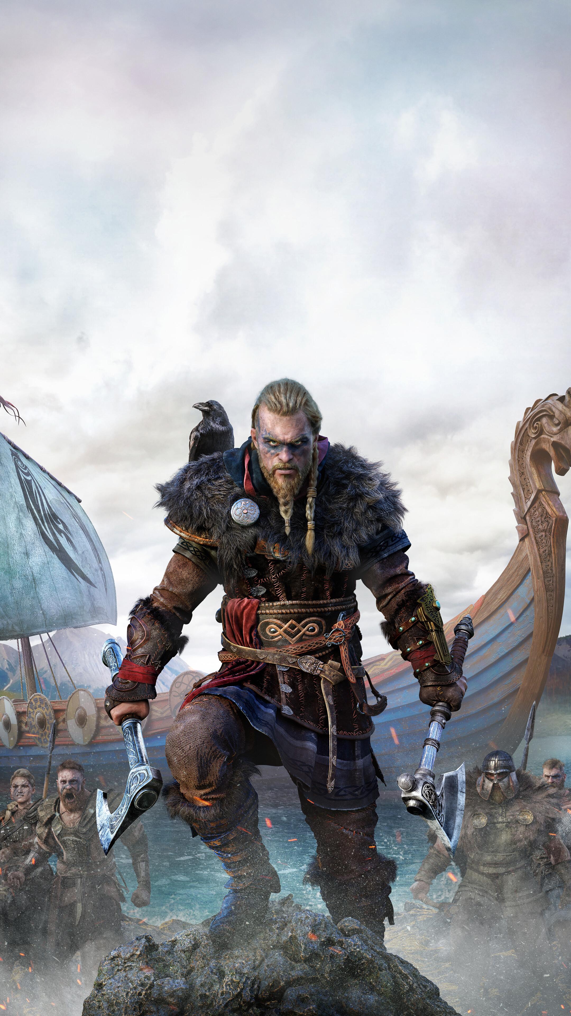 Eivor Assassins Creed Valhalla Viking Boat 4K Wallpaper 71969 2160x3840