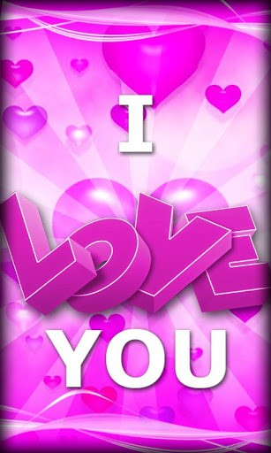 View Bigger Pink I Love You Live Wallpaper For Android Screenshot 307x512