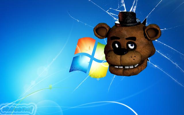FNAF WALLPAPER Freddy Head Windows 7 by MiniAna Fnaf 640x400