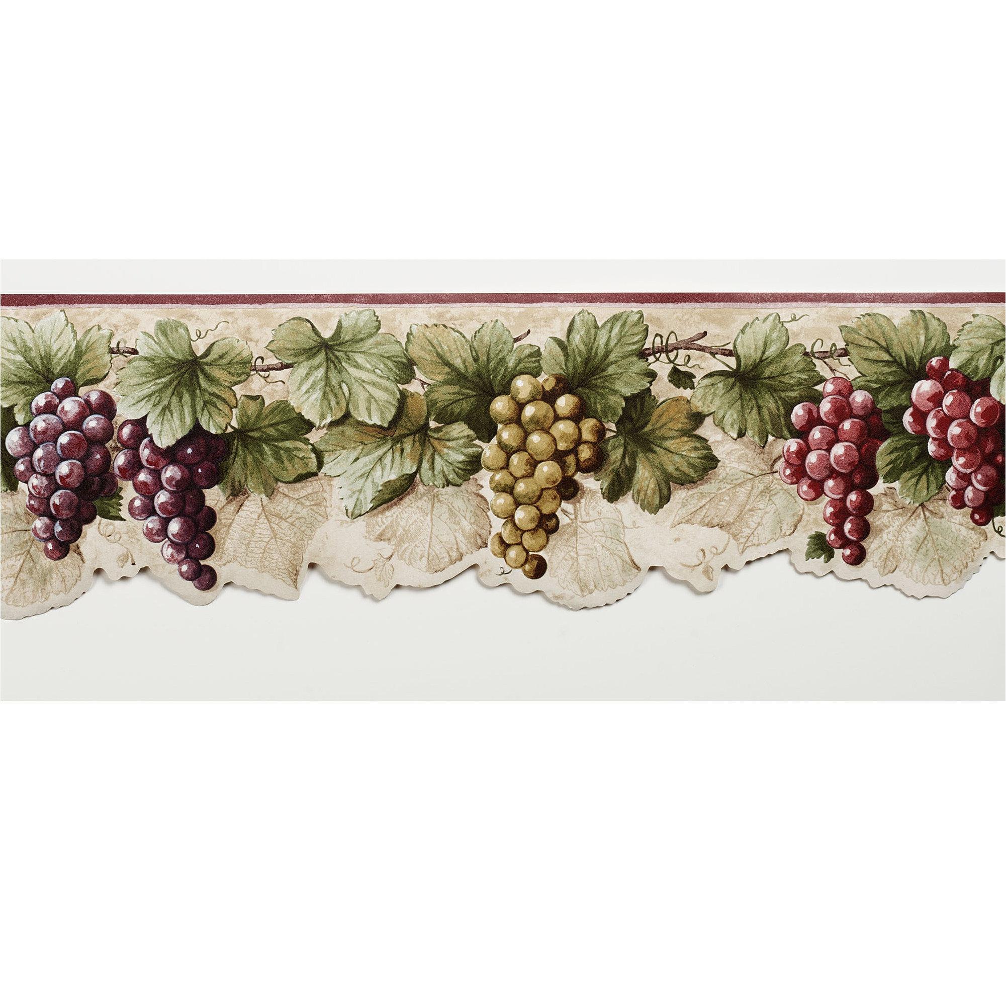 Wallpaper Border titleHome Harvest Time Grapes Wallpaper 2001x2000