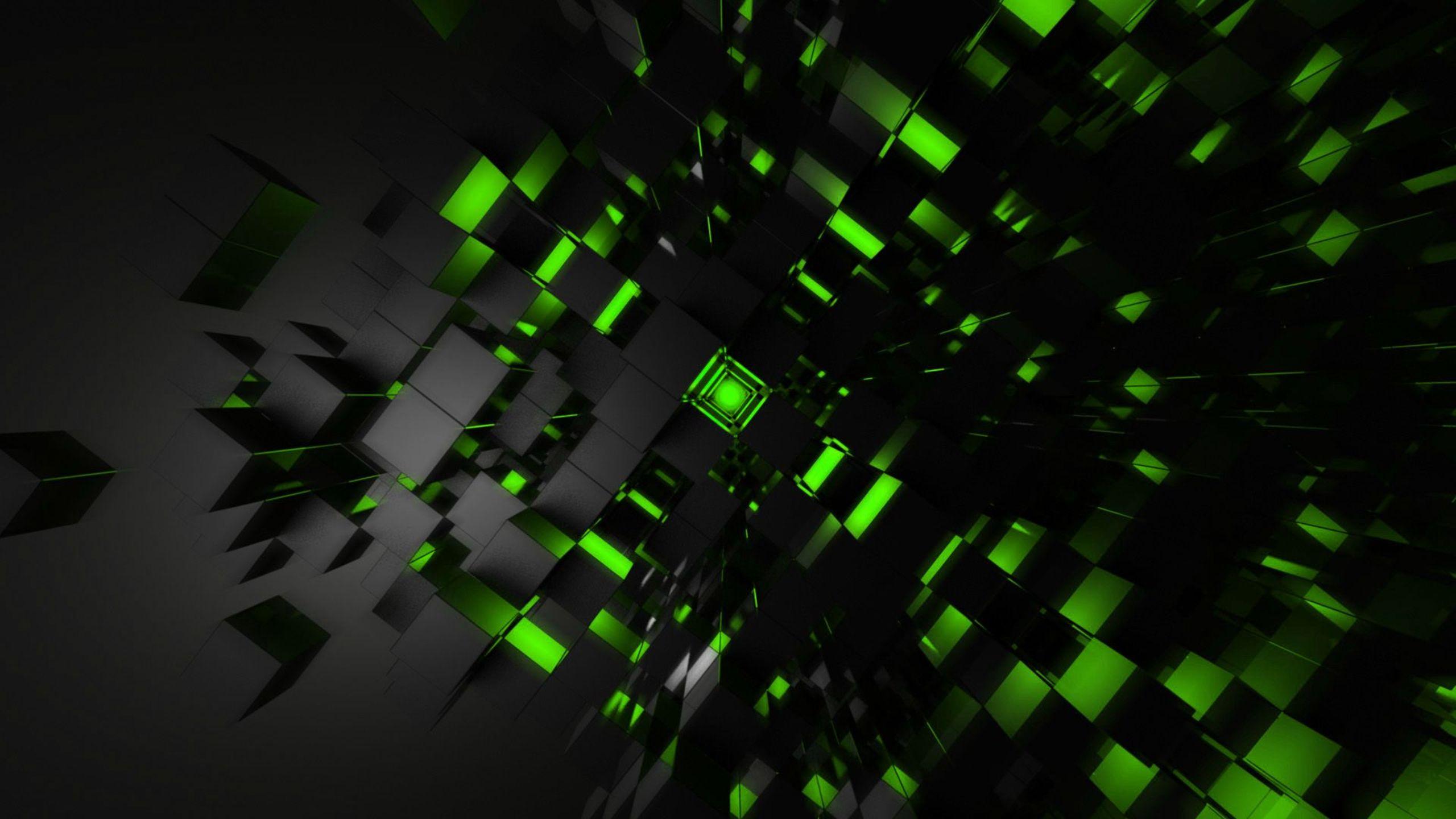 wallpaper green cubes 2560x1440 2560x1440