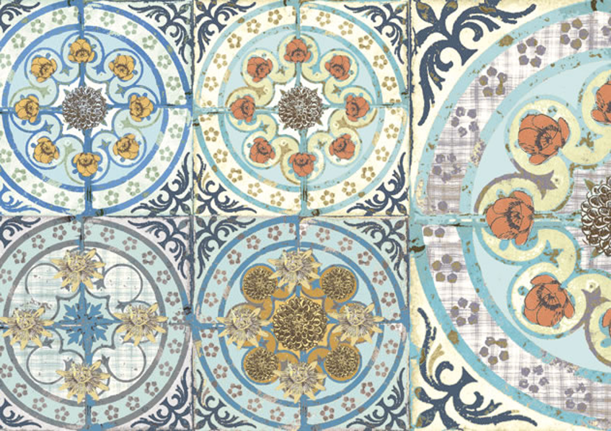 They incorporate original Victorian tile designs enhanced with Louise 2407x1701