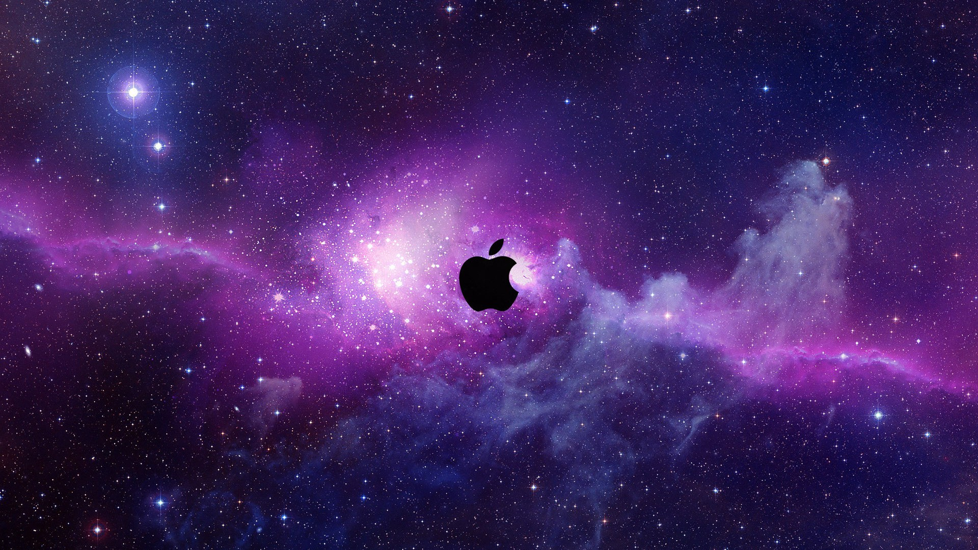 Outer Space Wallpaper 1920x1080 Outer Space Stars Apple Inc Logos 1920x1080