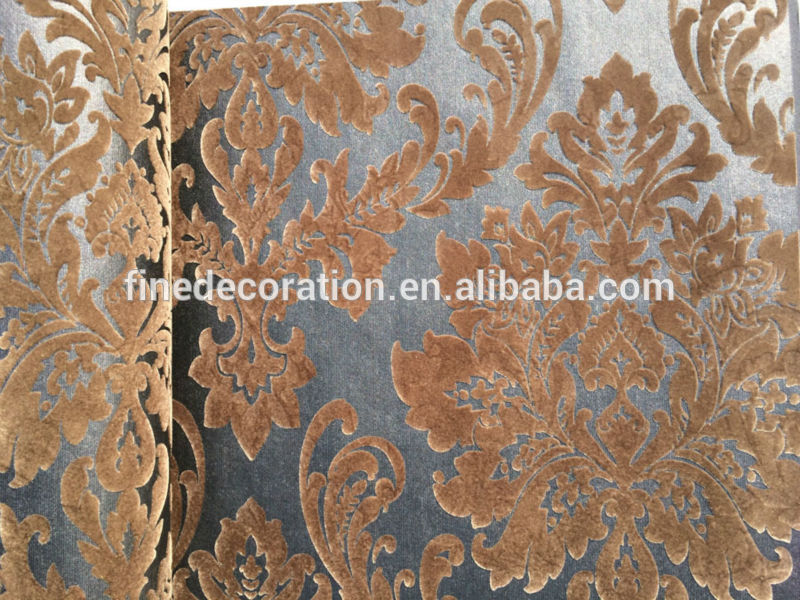 Wholesale distributors wanted Luxury velvet flocked 3d wallpapers 800x600