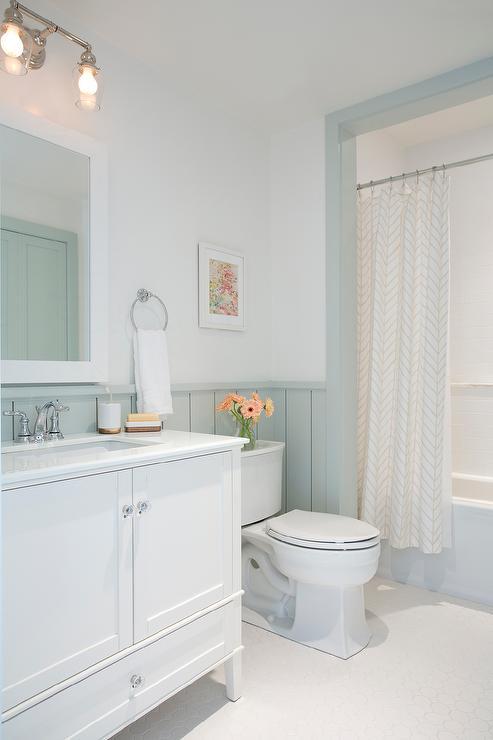 Gray Shiplap Walls   Cottage   Bathroom 493x740