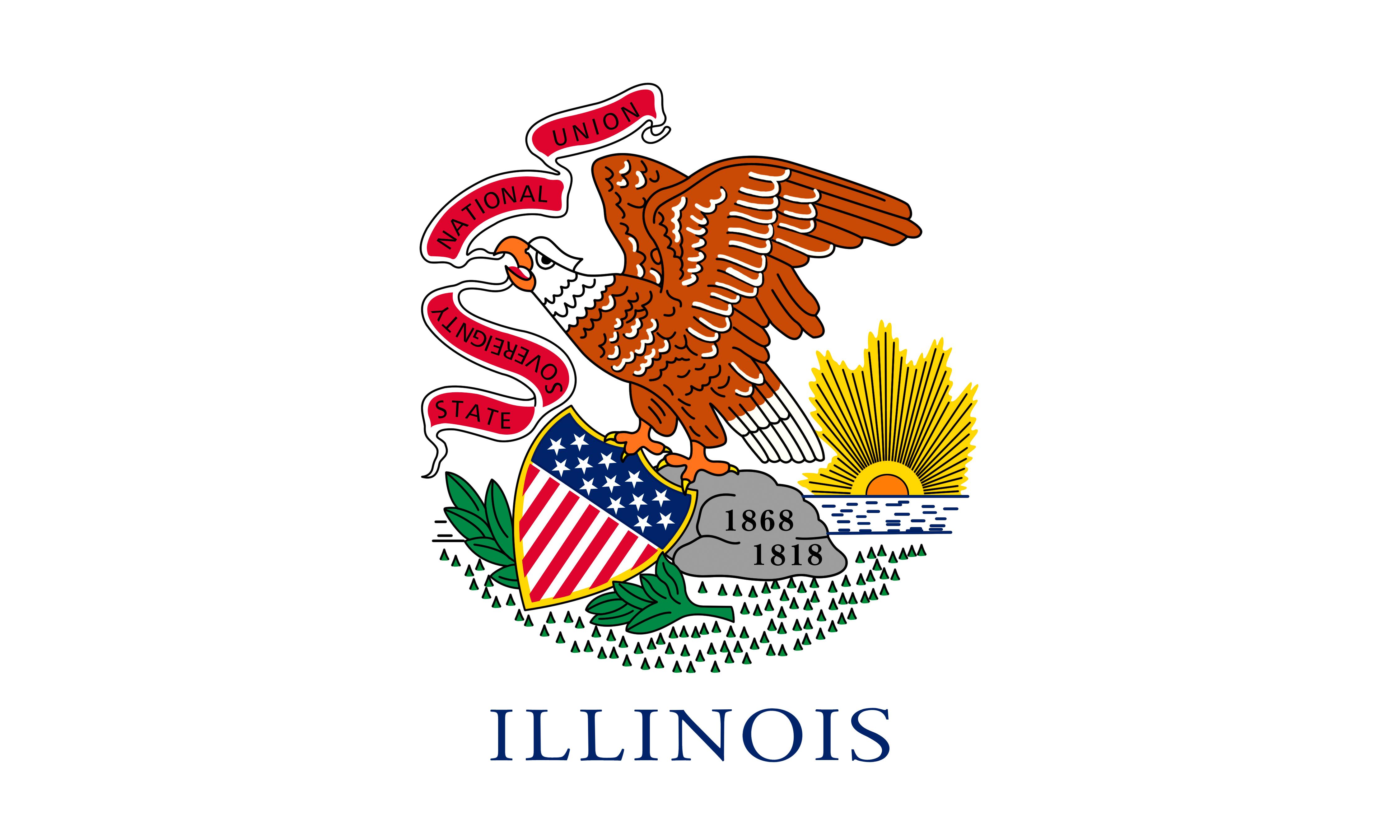Photos Eagles USA Illinois Flag 4500x2700 4500x2700