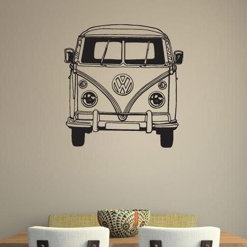 VW Camper Van Bus vinyl wall sticker decal art mural transfer VE021 500x500