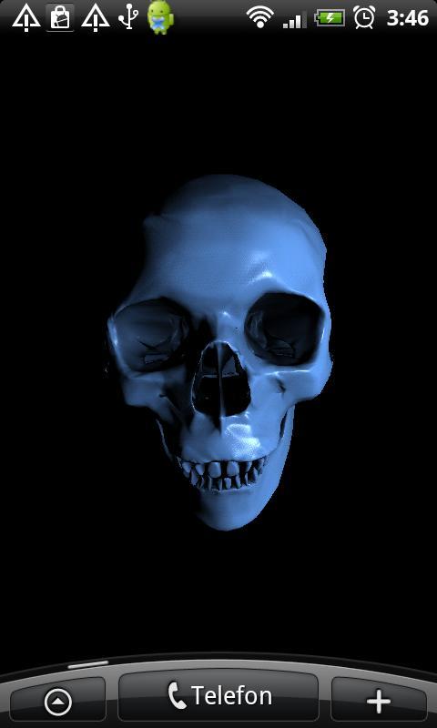 Skull 3D Wallpa screenshot thumbnail 0 480x800