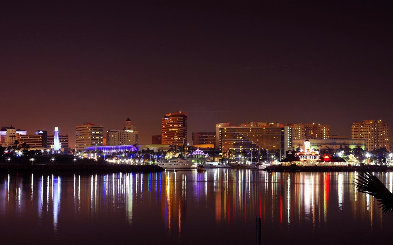 Download wallpaper 1440x900 usa california long beach city 1440x900