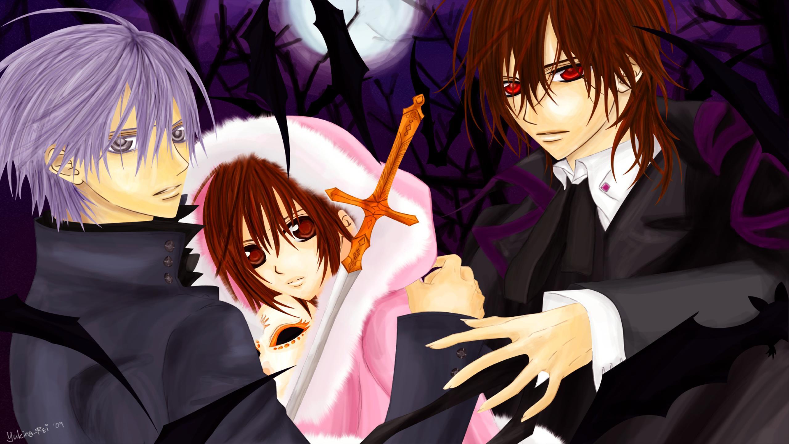 Anime hd wallpaper 2560x1440 wallpapersafari - Wallpaper vampire anime ...
