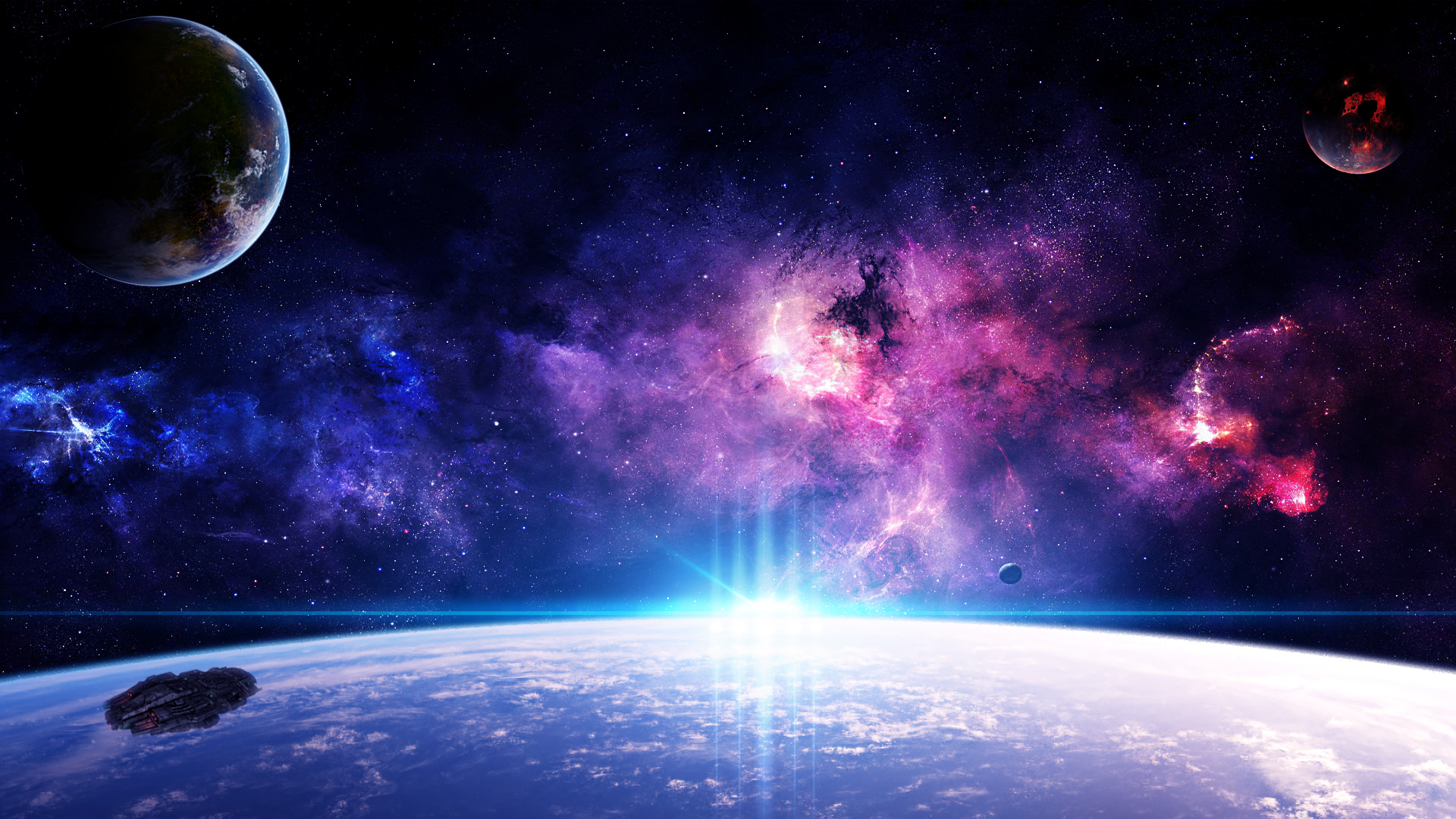 Download wallpaper 1920x1080 planet, space, outer space ...