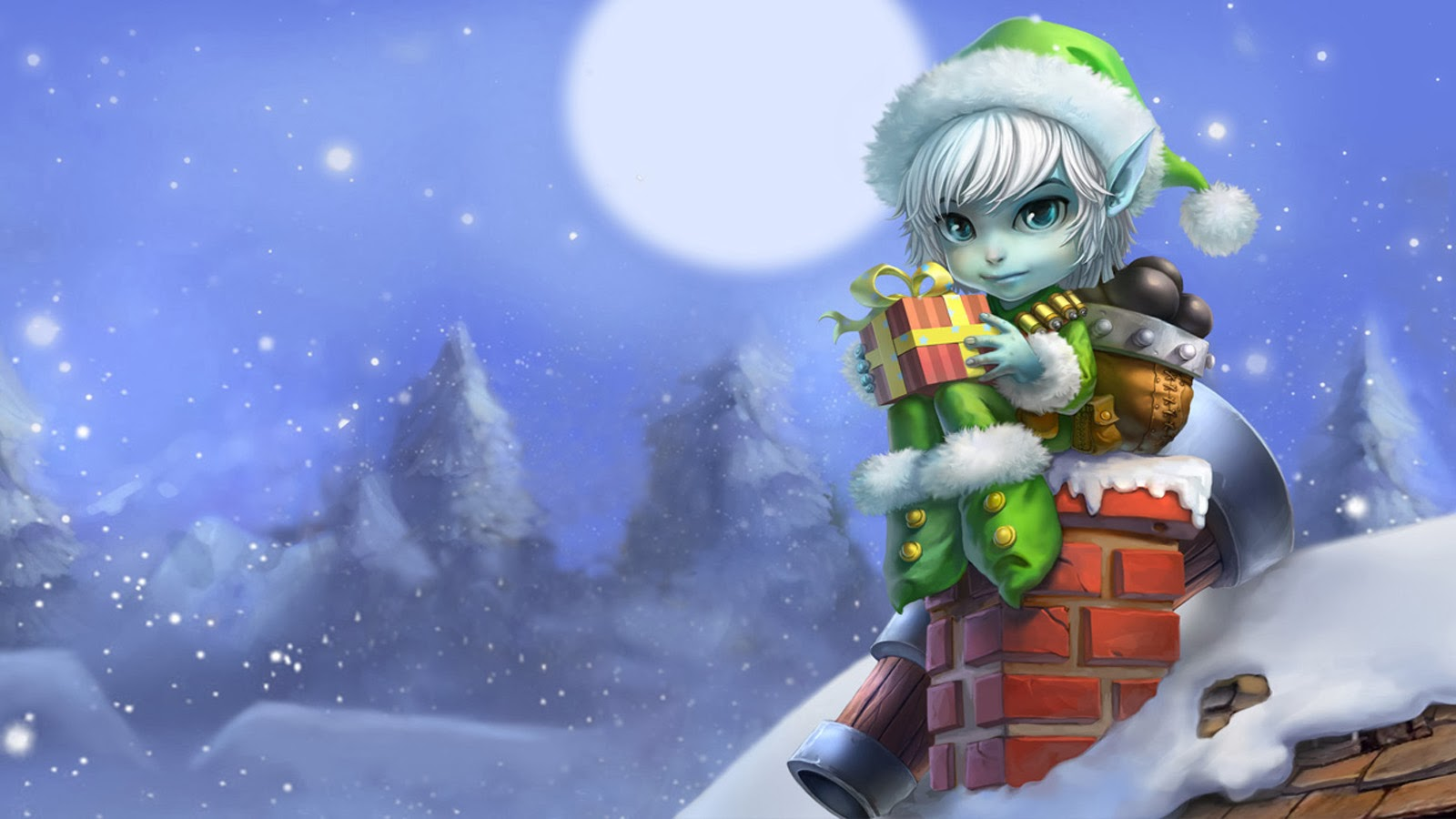 Free Download Christmas Elf Gift Tristana League Of Legends Lol