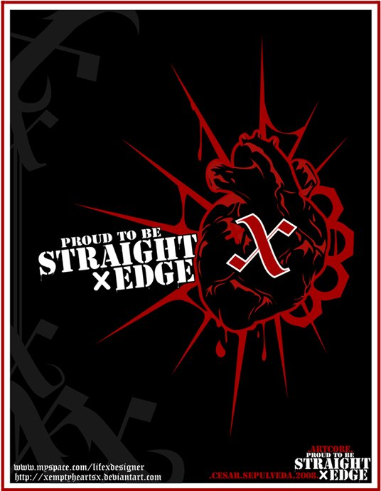 Free Download Proud To Be Straight Edge By Xemptyheartsx