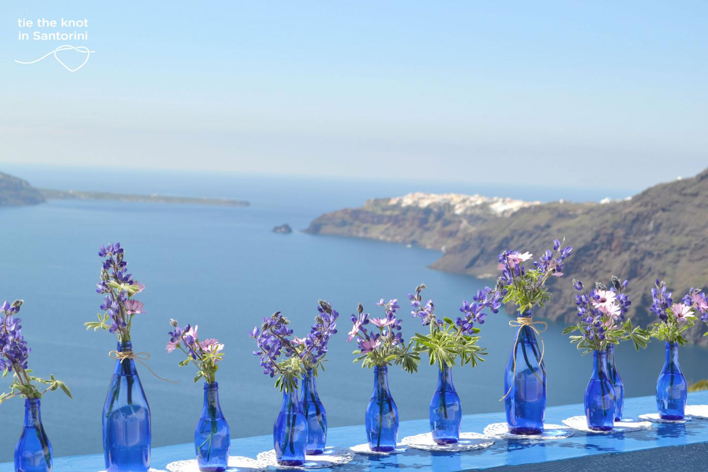 Flower design Wedding decoration Santorini Greece High 1440x960