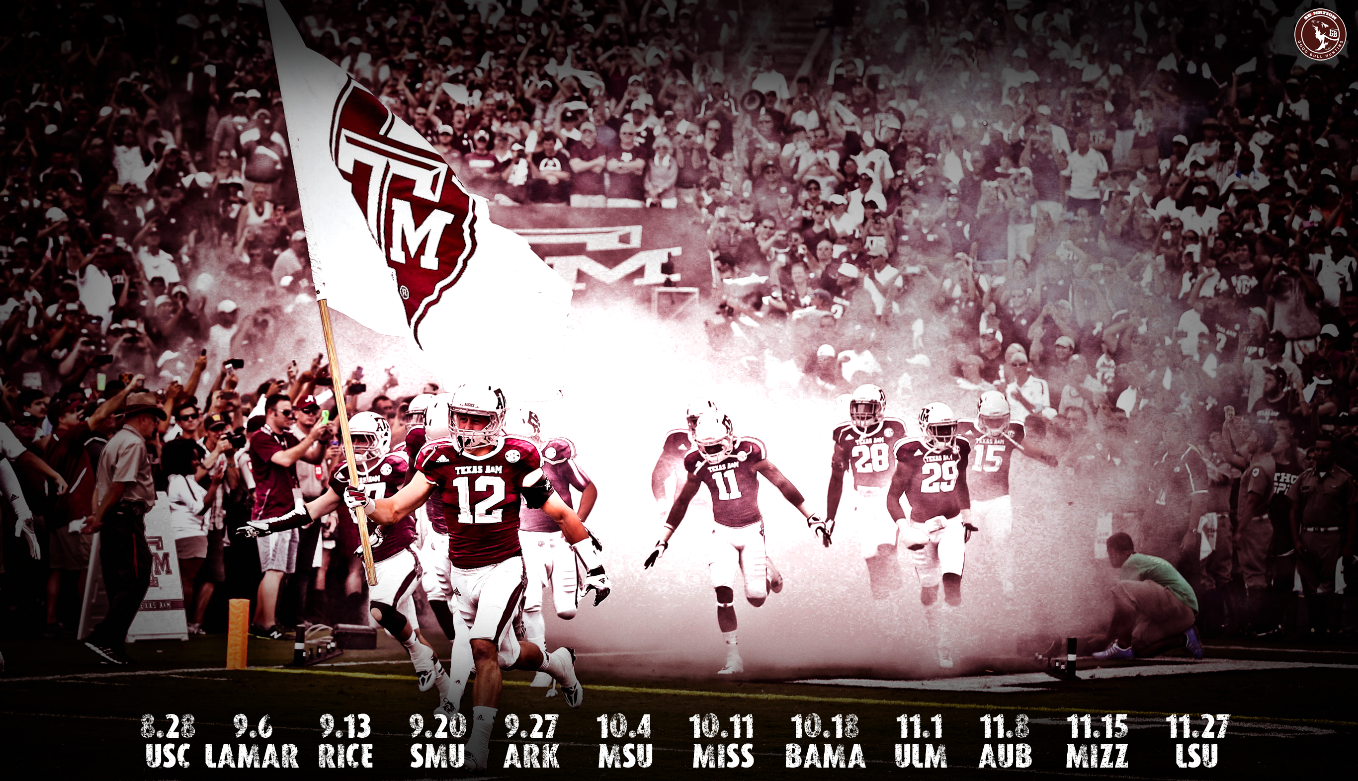 Aggie Football Wallpapers Round 2   Good Bull Hunting 2732x1572
