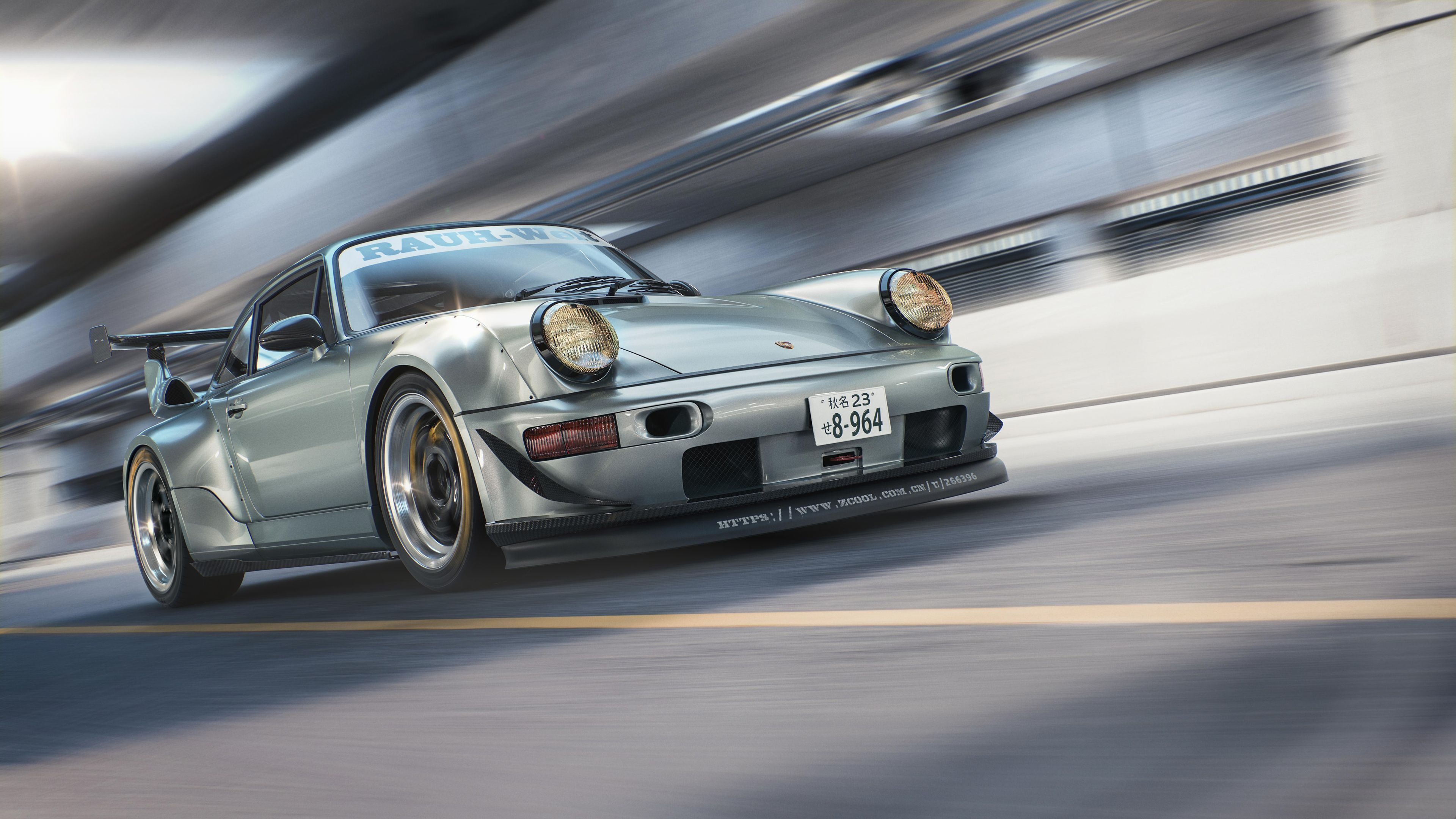 Porsche 964 RWB CGI 4k porsche wallpapers hd wallpapers cgi 3840x2160
