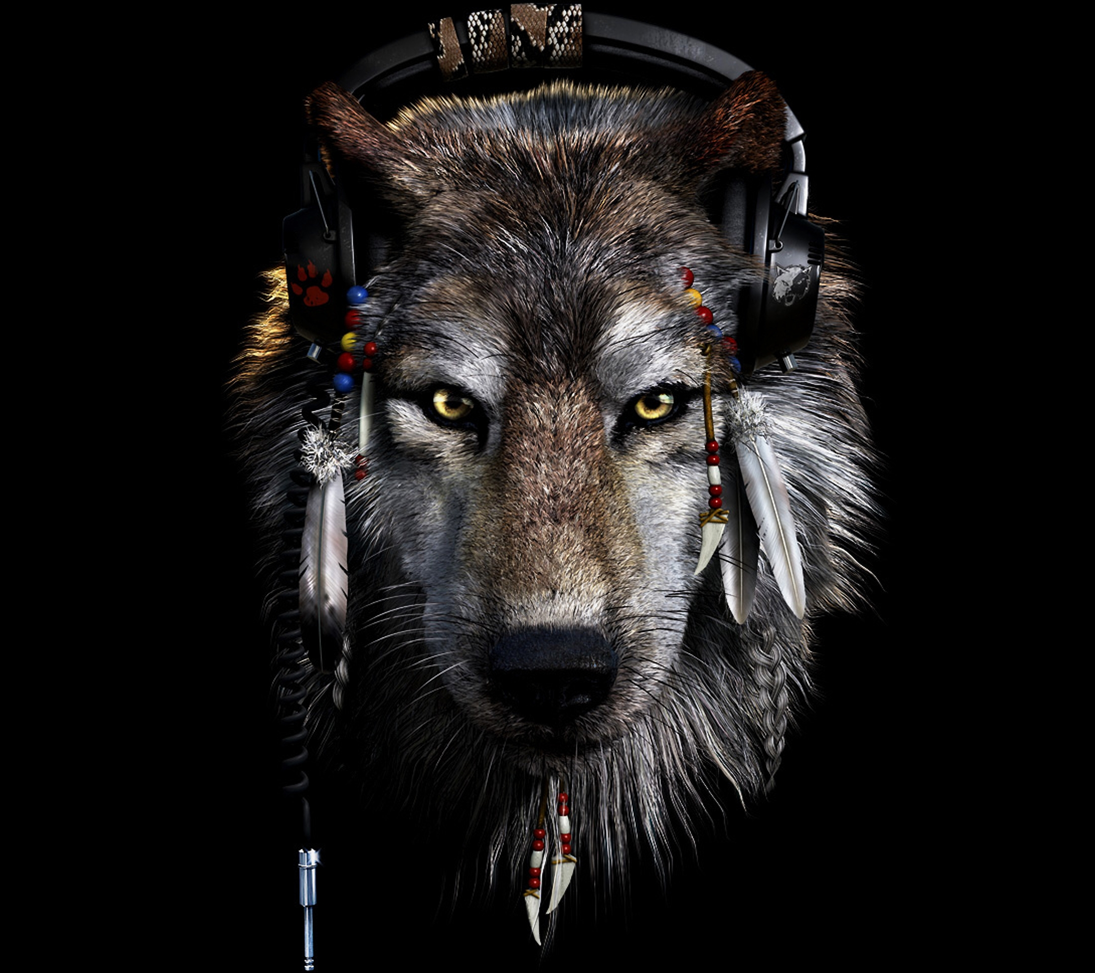 Indians and Wolves Wallpaper - WallpaperSafari