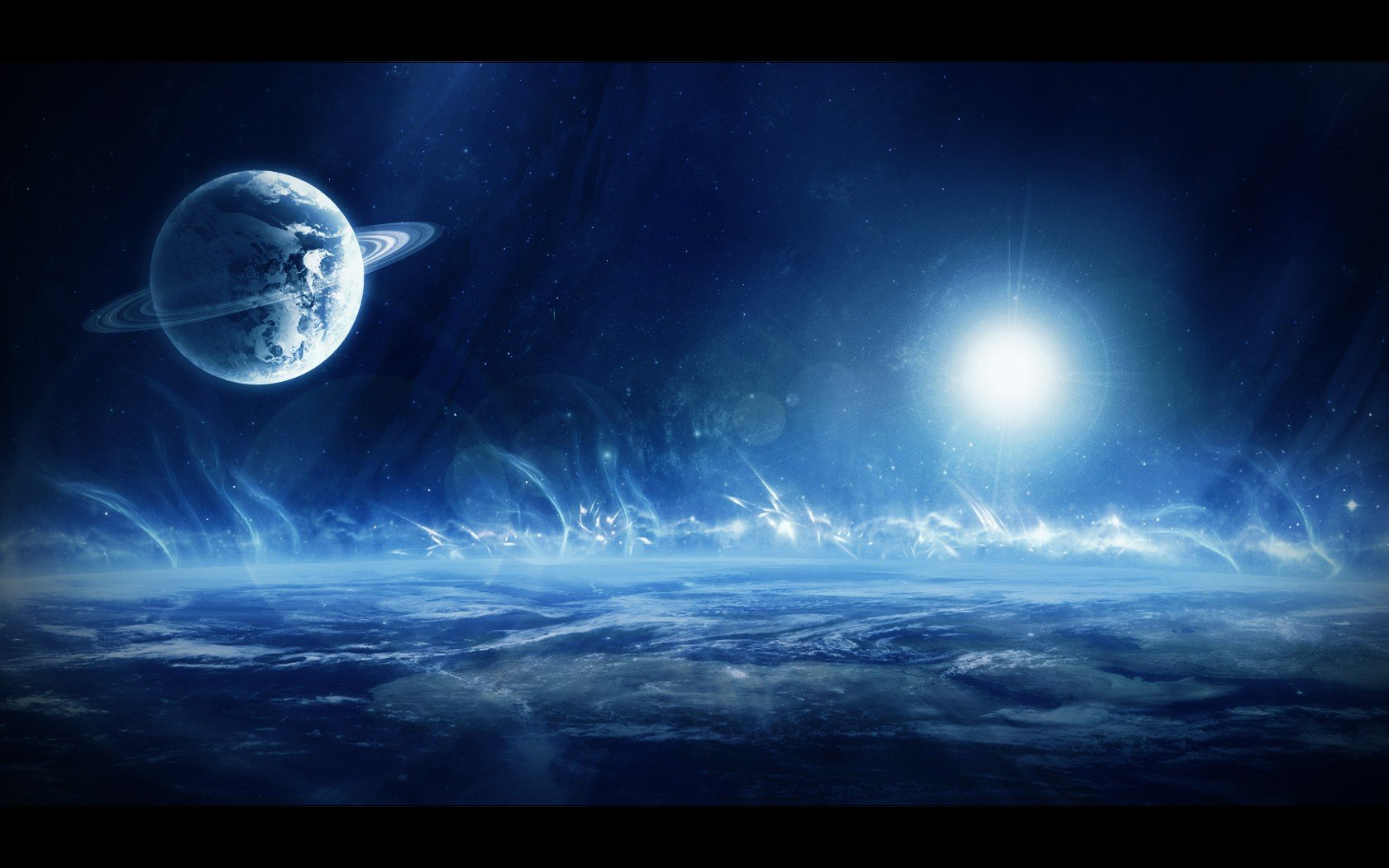 Outer Space Planets Wallpaper Outer space wa 1680x1050