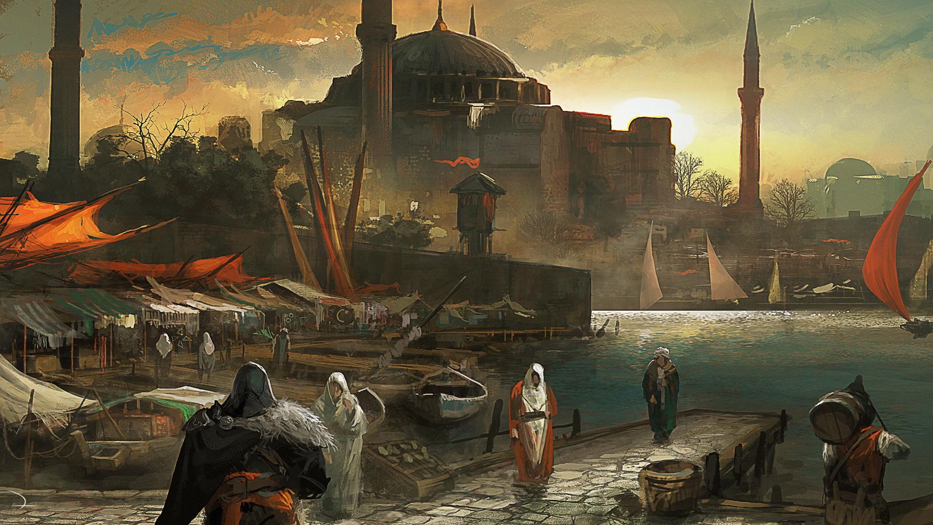 assassins creed revelations art docks Wallpaper Game HD Wallpapers 1920x1080