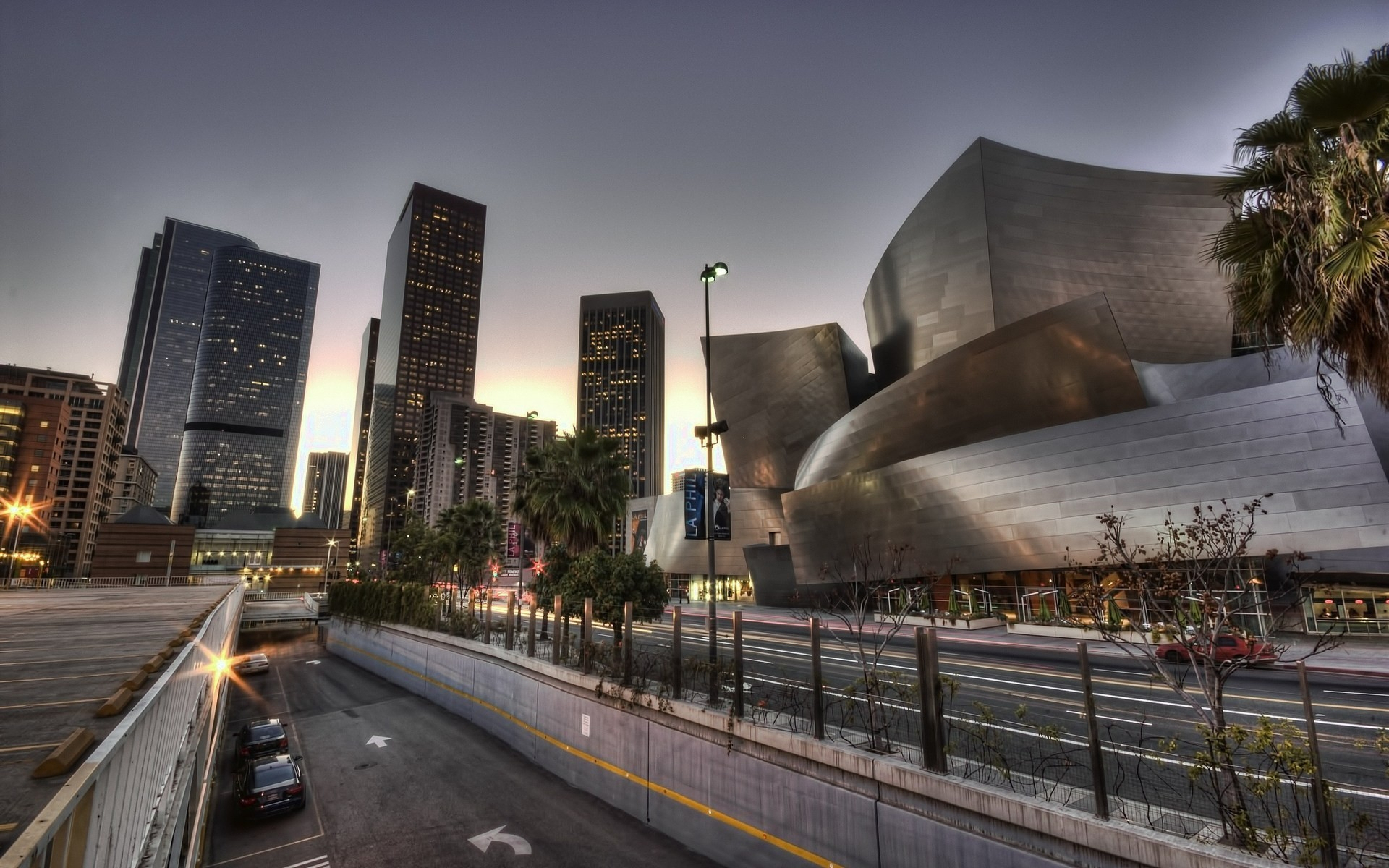 3840x2400 Wallpaper walt disney concert hall los angeles california 3840x2400