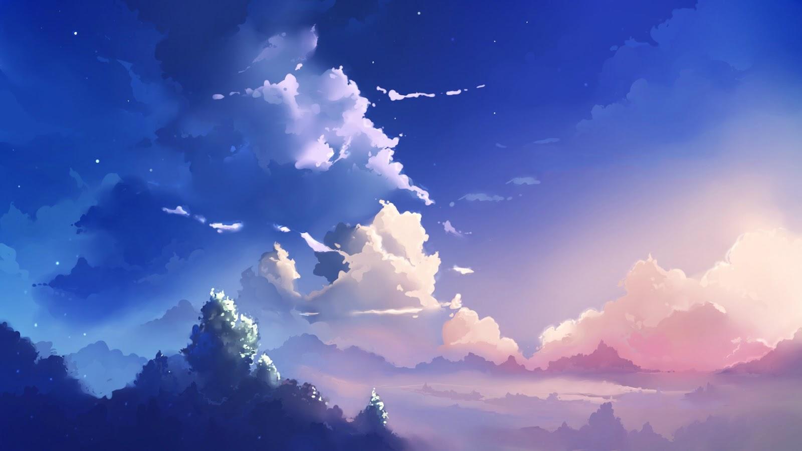 Anime Landscape Sky Anime Landscape 1600x900