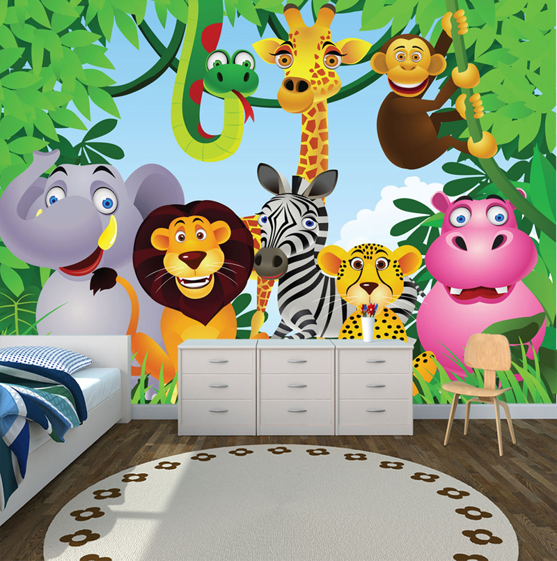 jungle theme wallpaper for kids wallpapersafari