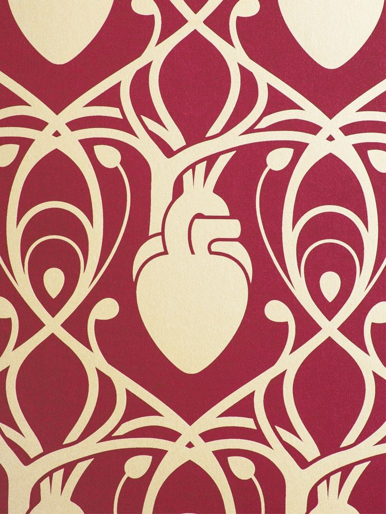 This sumptuous Cardiac Wallpaper depicts anatomical human hearts 750x1000