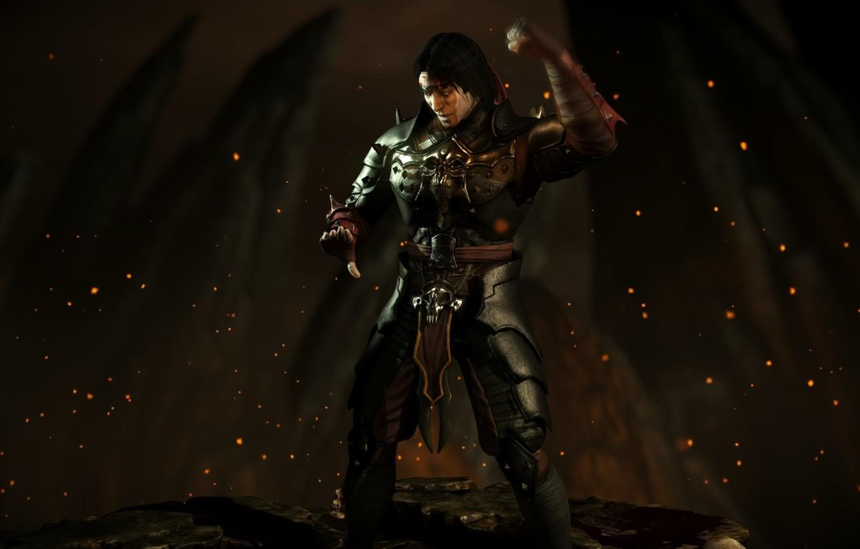 Wallpaper dark Liu Kang Mortal Kombat X revenant emperor mkx 1332x850