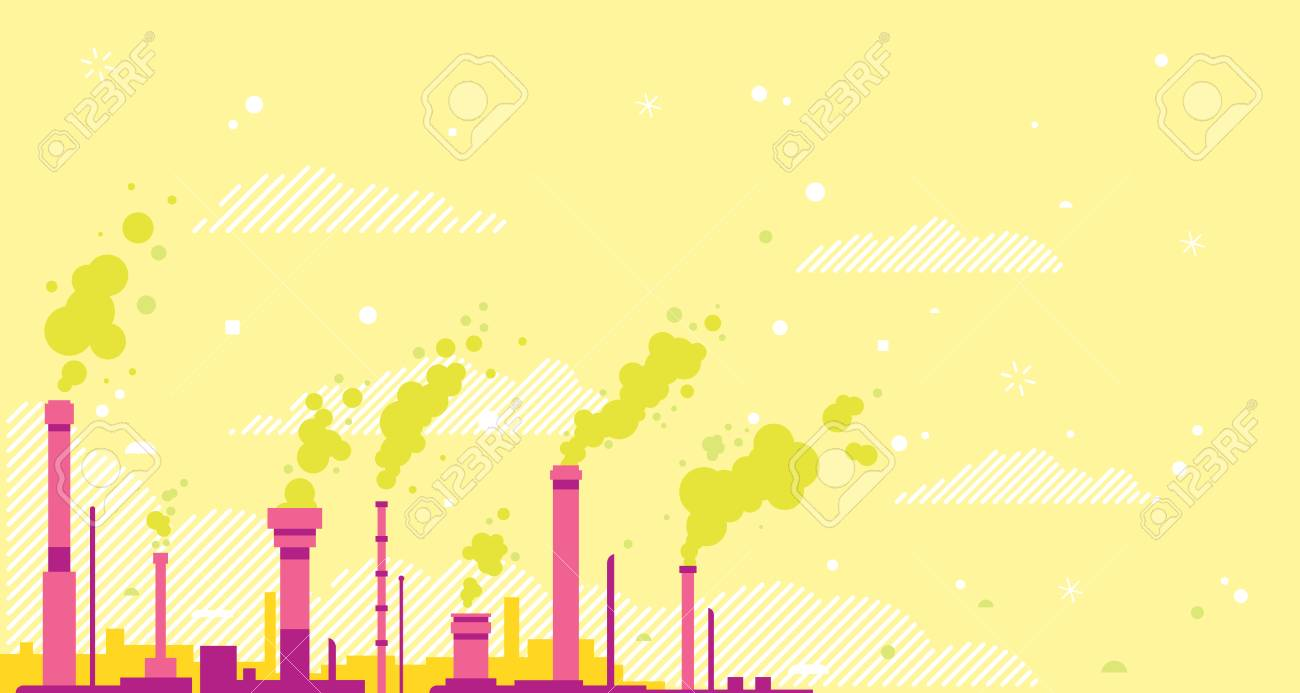Air Pollution Conceptual Illustration Background In Flan Style 1300x693