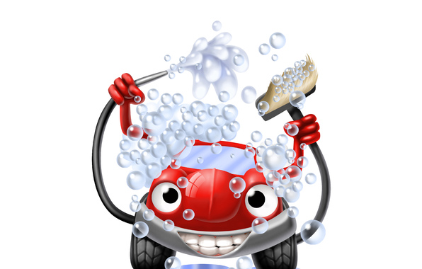Art car wash car car red car wash self service bubbles water 596x380
