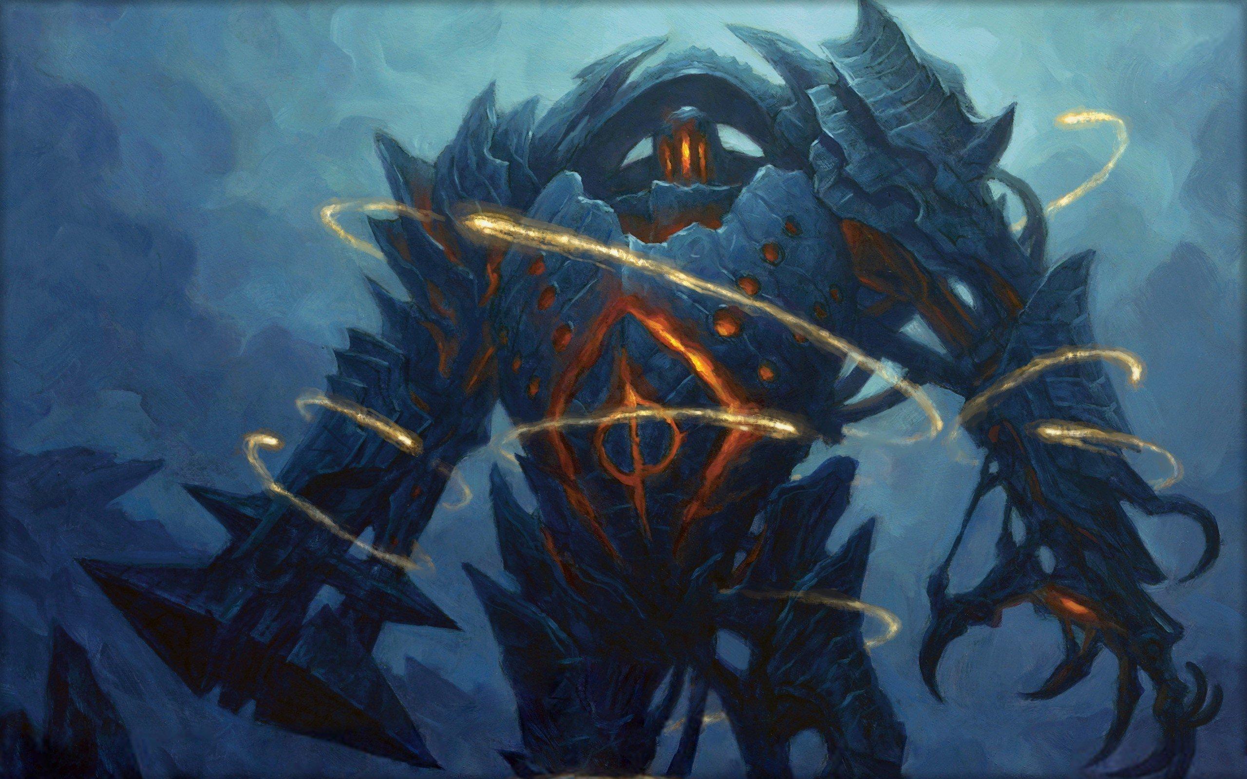 Magic The Gathering Fantasy Art Golem Wallpapers HD 2560x1600