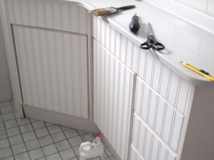 Beadboard Wallpaper BINGO for cabinet doors 736x552