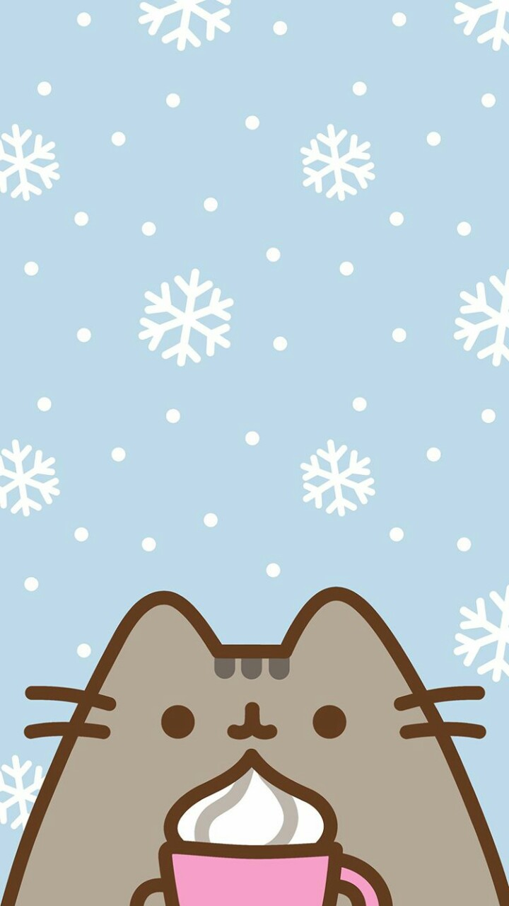 winter wallpaper pusheen cat wallpaper and pusheen cat   image 720x1280