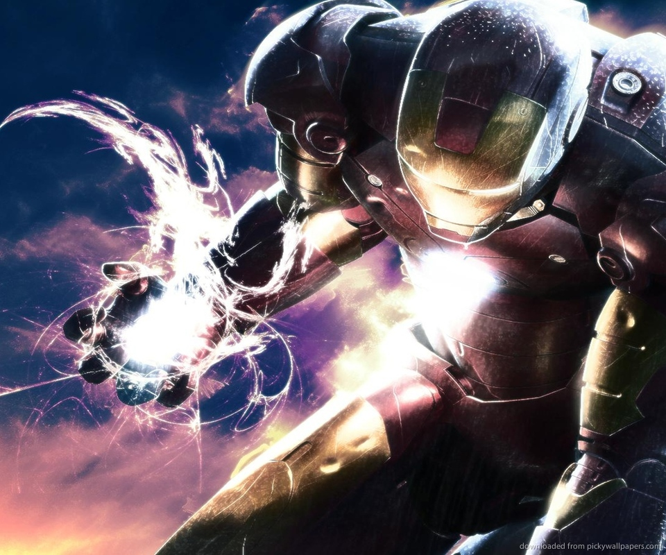 Download Iron Man charging up wallpaper for Samsung Epic 960x800