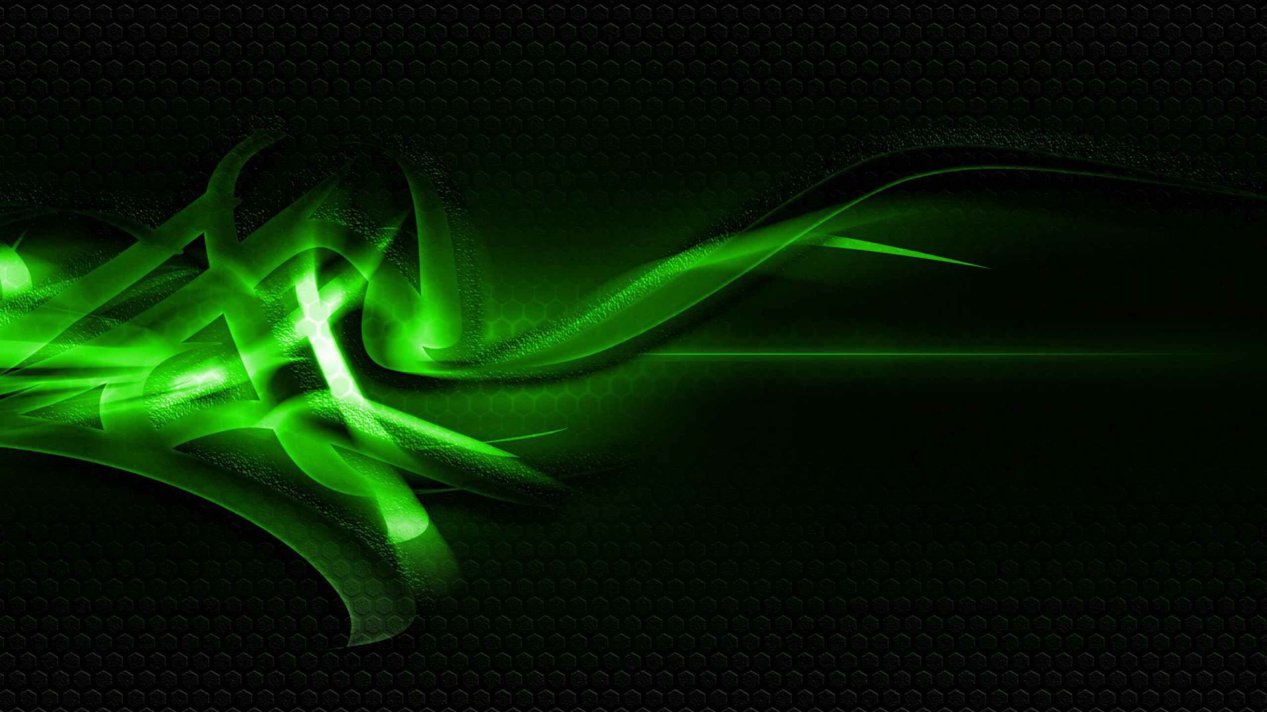 Green And Black Abstract Wallpaper 2560x1440