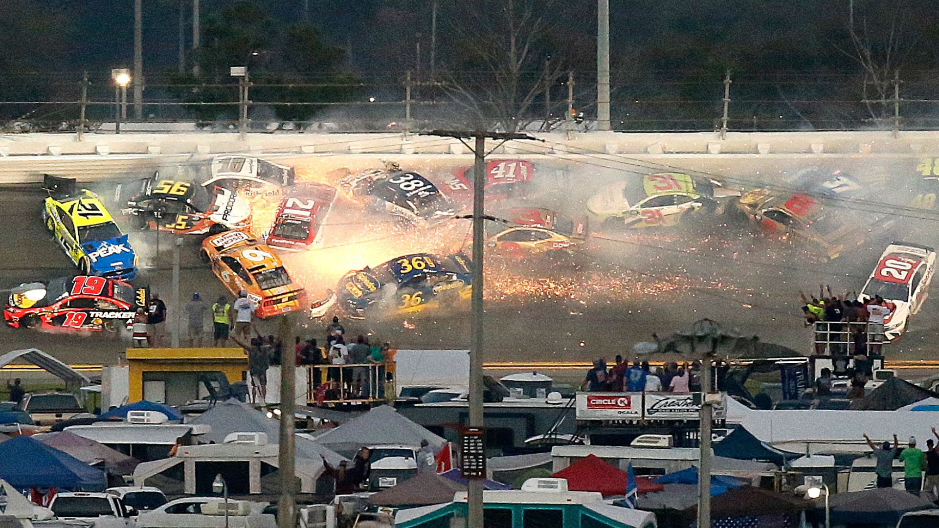 Daytona 500 2019 Denny Hamlin wins crash filled race honoring 1920x1080