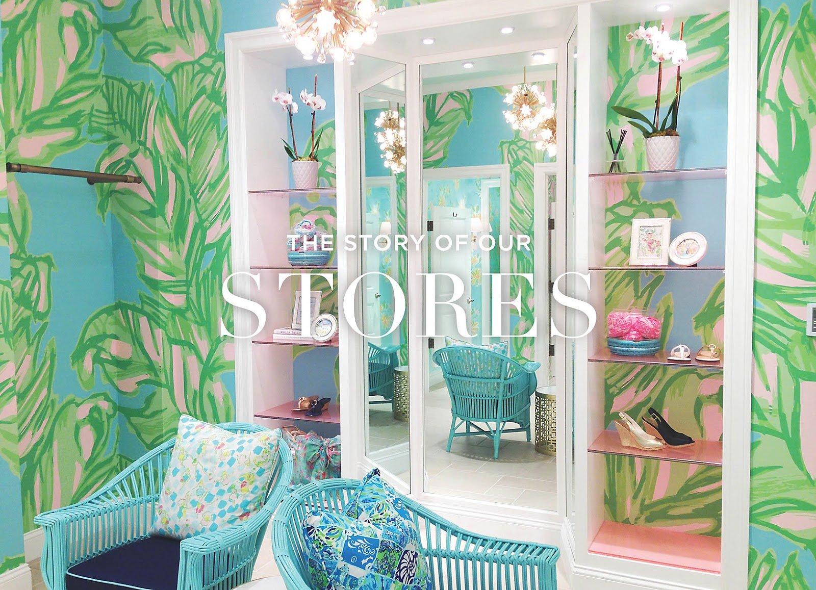 Lilly pulitzer wallpaper for home wallpapersafari for Wallpaper happy home designer