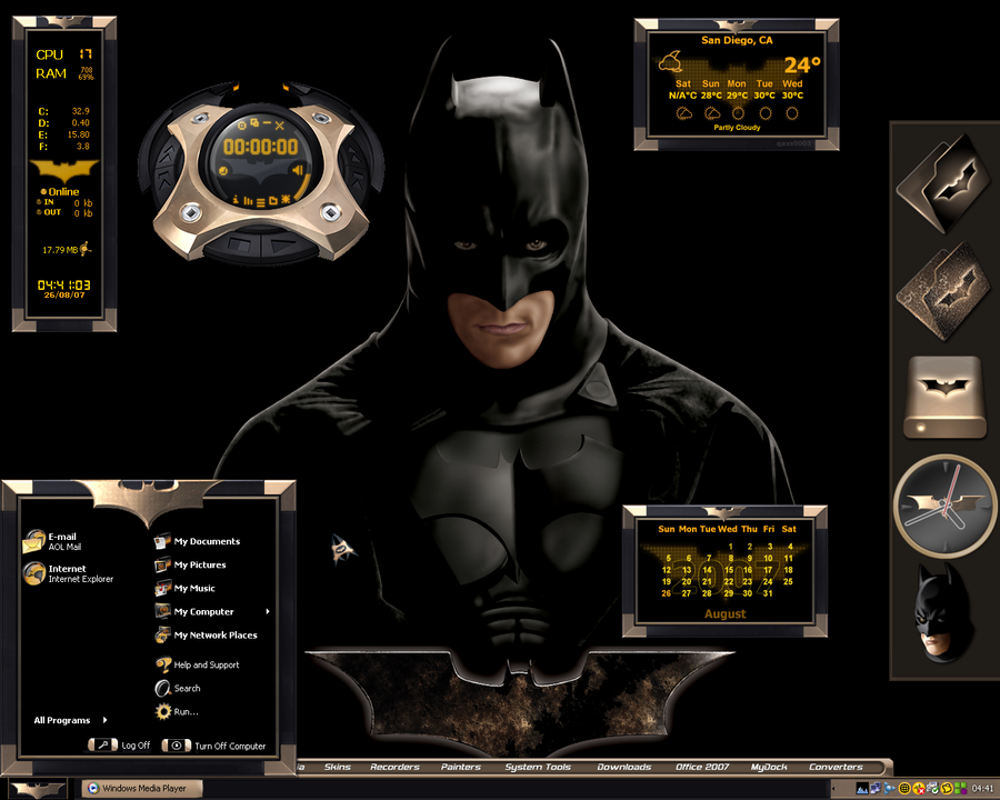 Free download Ultimate Batman Desktop by a666a [900x720] for