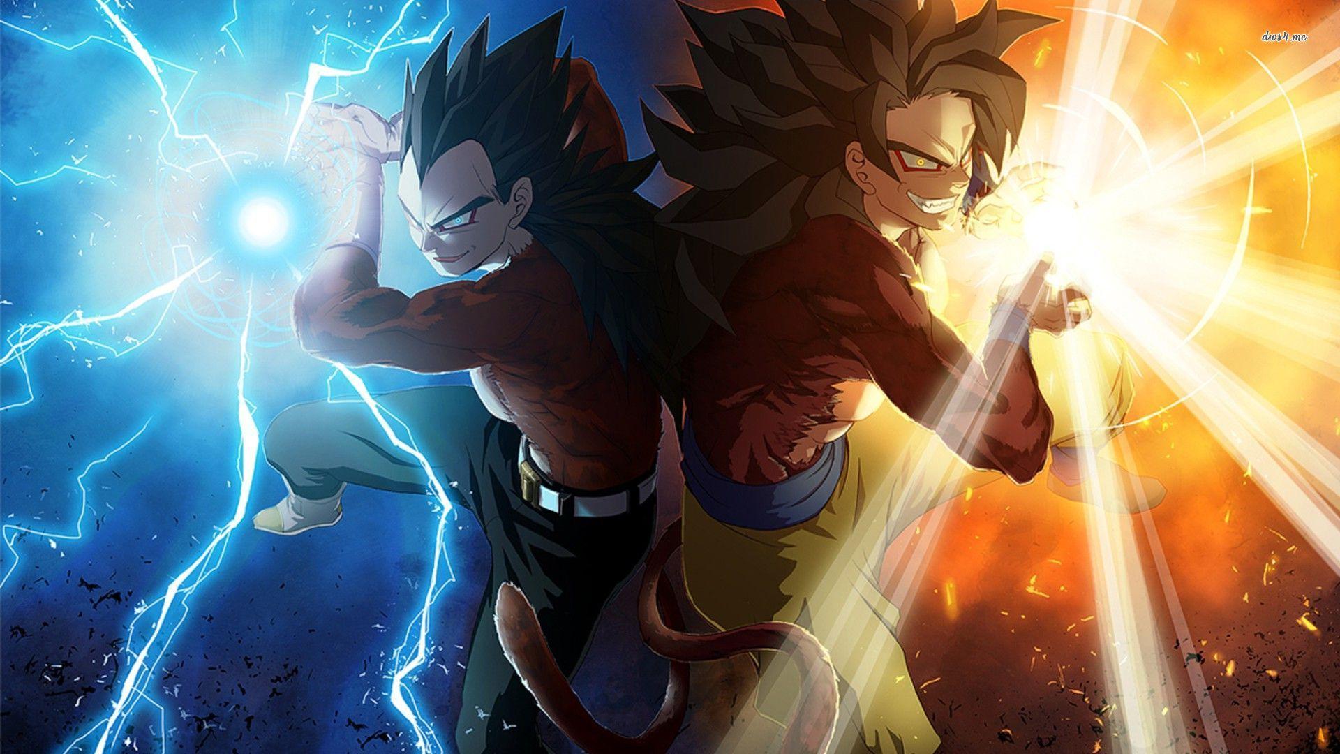 Vegeta and Son Goku   Dragon Ball GT wallpaper 1280x800 Vegeta and Son 1920x1080