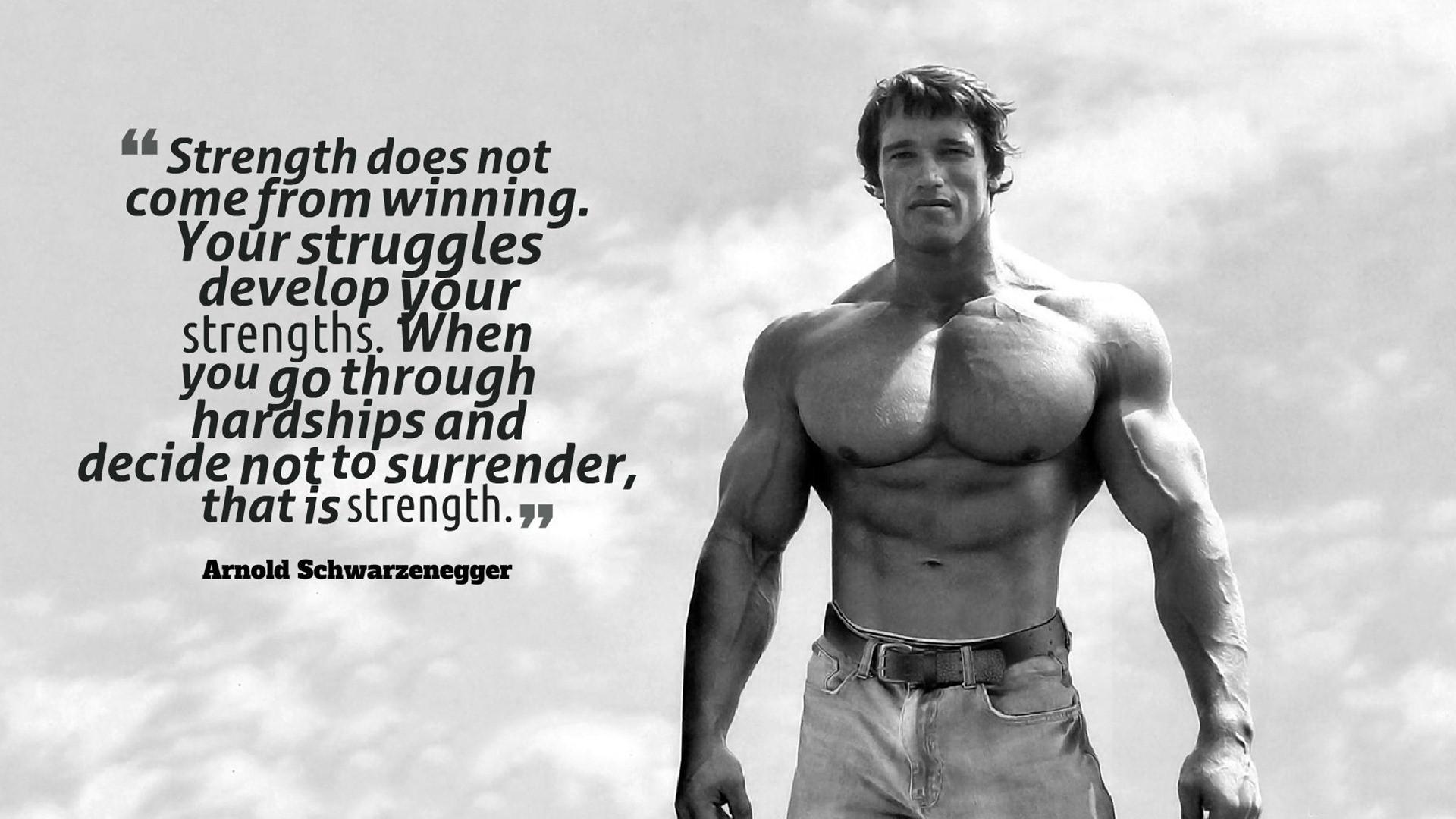 Arnold Schwarzenegger Strength Quotes Wallpaper 00193   Baltana 1920x1080