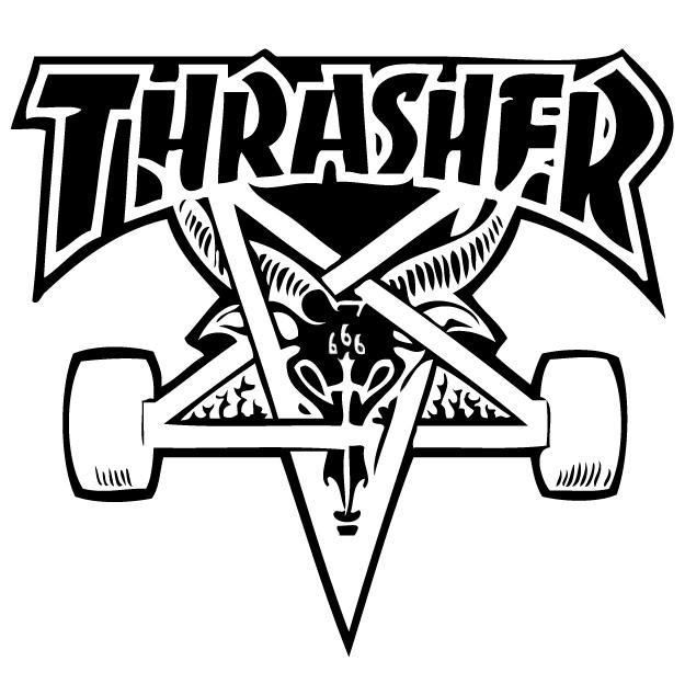 Thrasher Goat Logo Thrasher pentagram logo 625x624