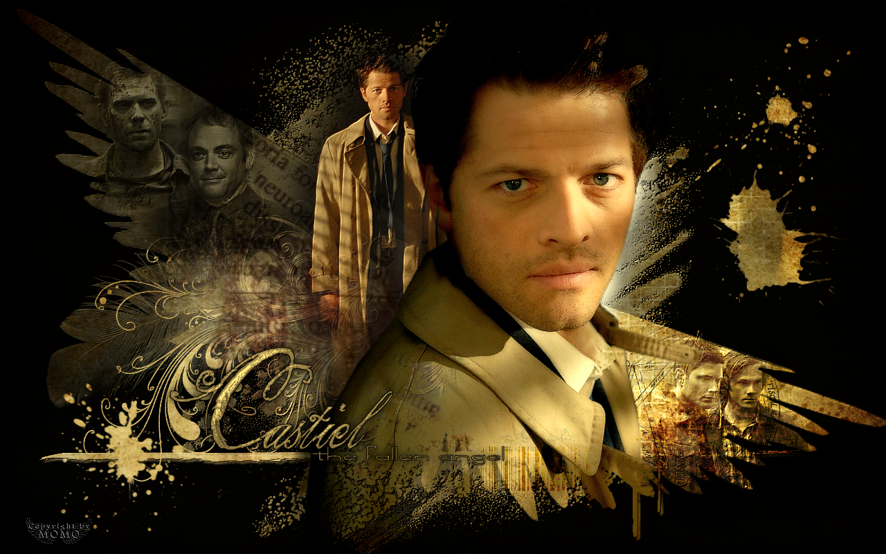Fallen Angel   Castiel Wallpaper 26986628 1280x800