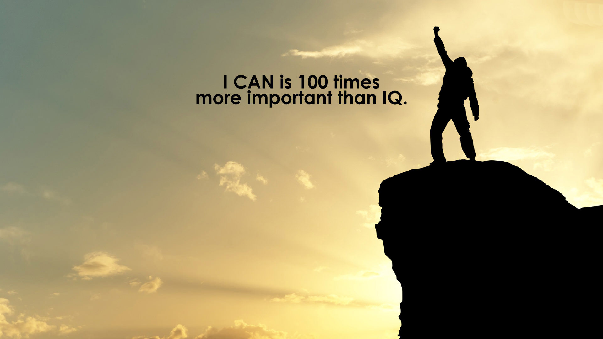 I can is 100 times more important than IQ 1920x1080