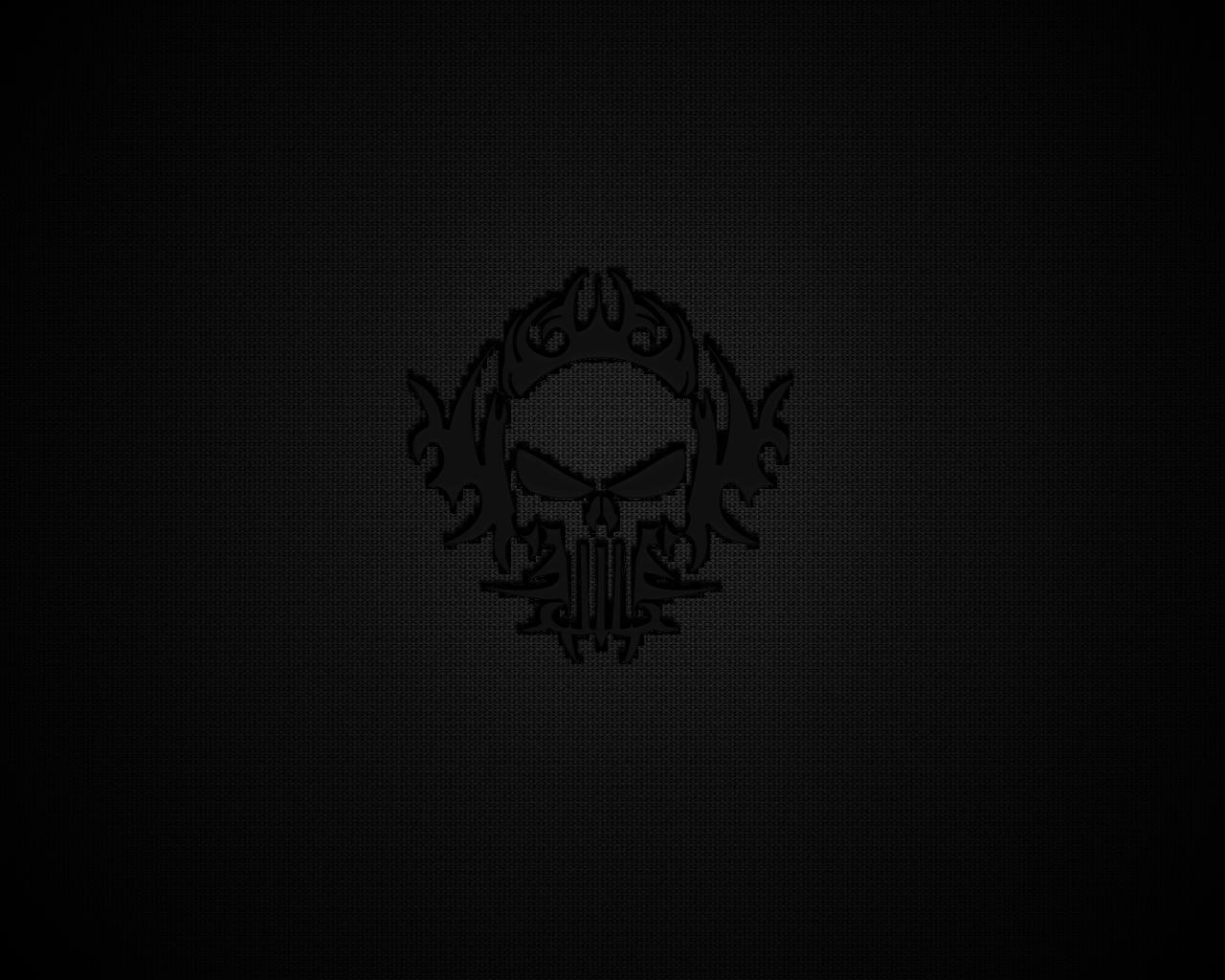 black wallpaper 1280x1024: Black Skull Wallpaper