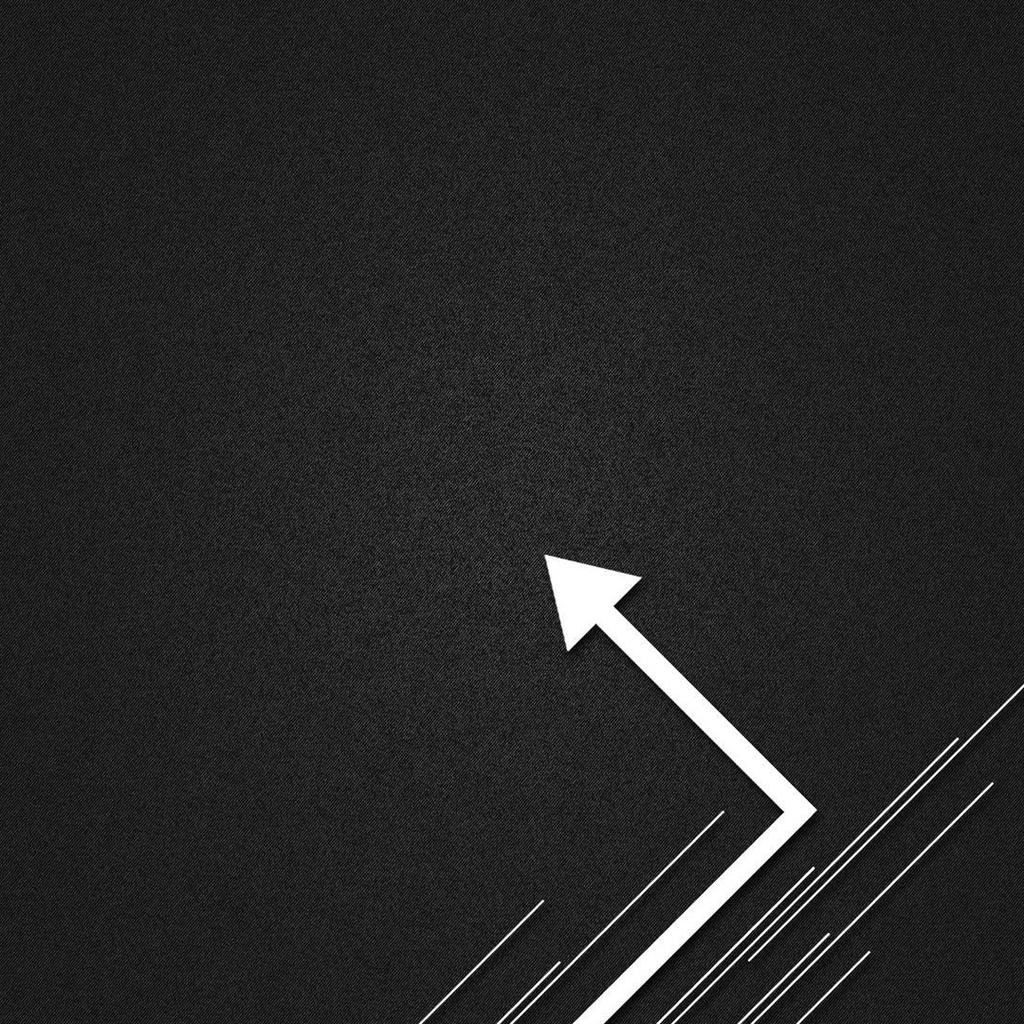 Vector arrow label design black and white backgrounds for ipad 1024x1024