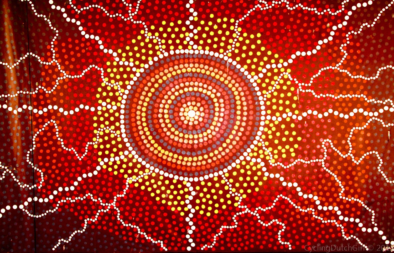 Aboriginal Art Cycling Dutch Girl 1500x965
